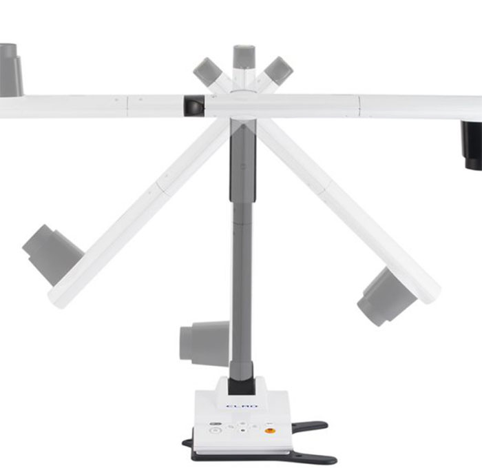 The extremely flexible camera head of the ELMO LX-1 - the new document camera from ELMO - Visualiser or document cameras - maybe the better whiteboards